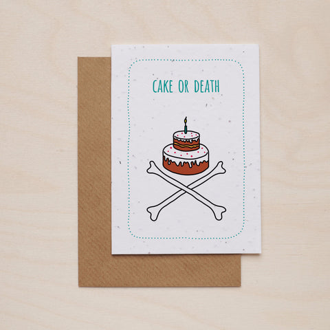 Cake or death - Seeded card