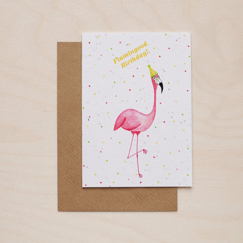 Flamingood birthday - Seeded card