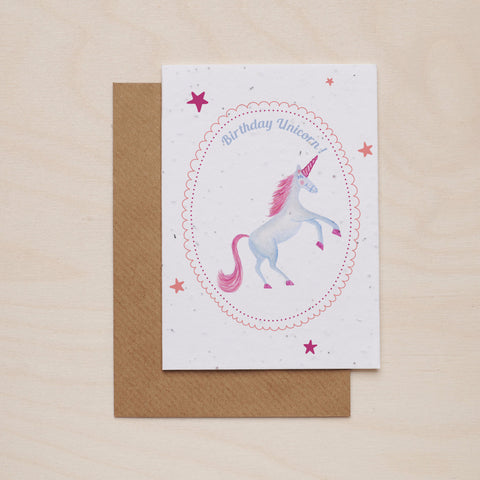 Happy birthday unicorn - Seeded card