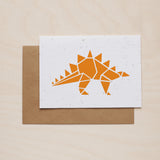 Orangeosaurus - Seeded card - Oolaladesign
