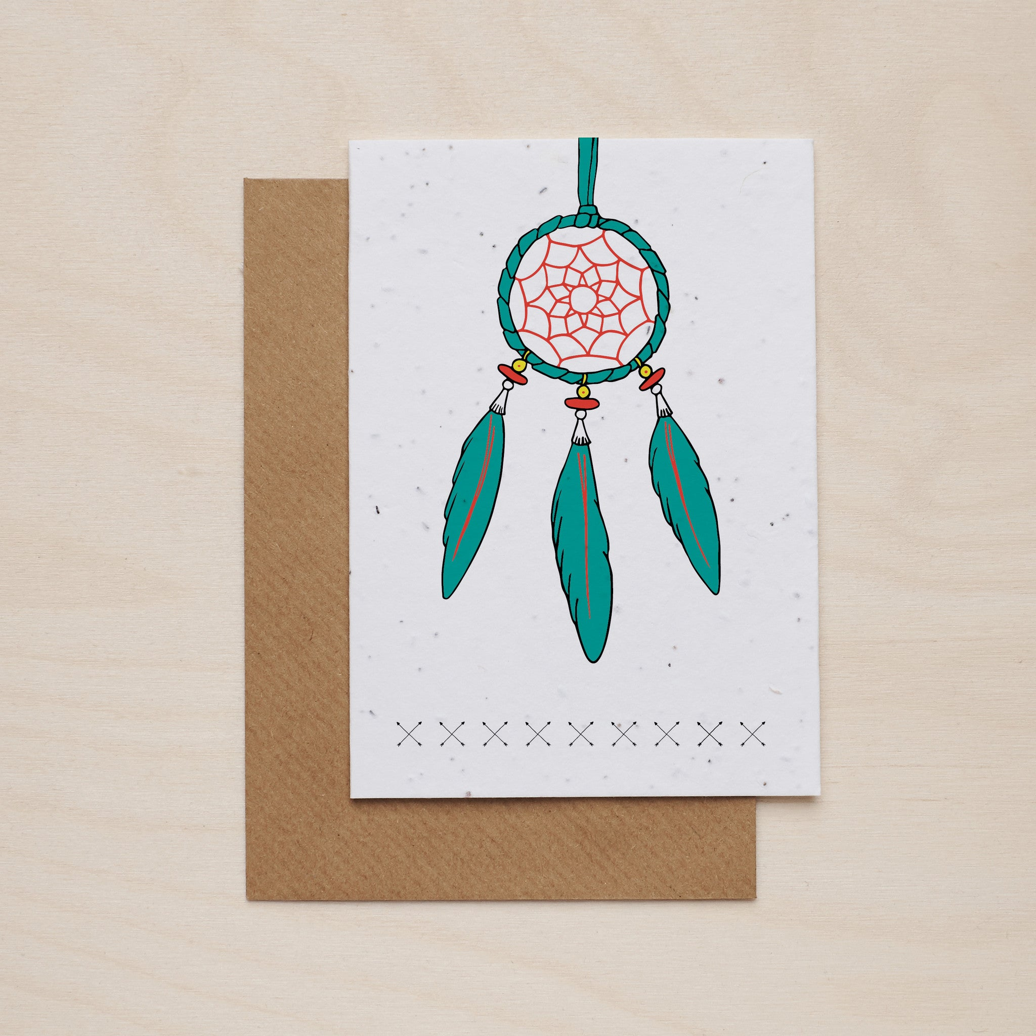 Dream catcher - Seeded card - Oolaladesign