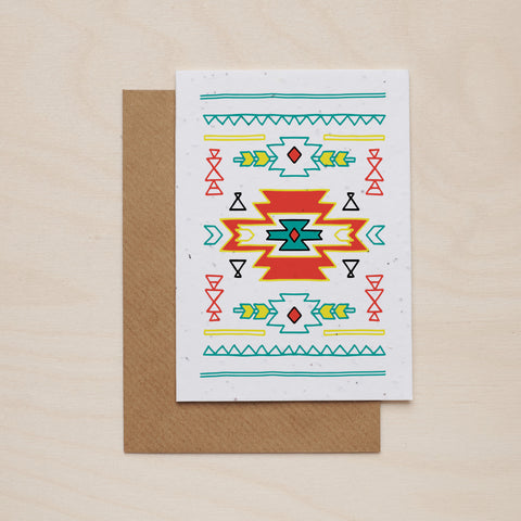 Colourful pattern - Seeded card