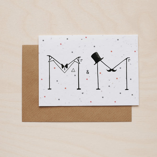 Mr & Mr - Seeded card - Oolaladesign