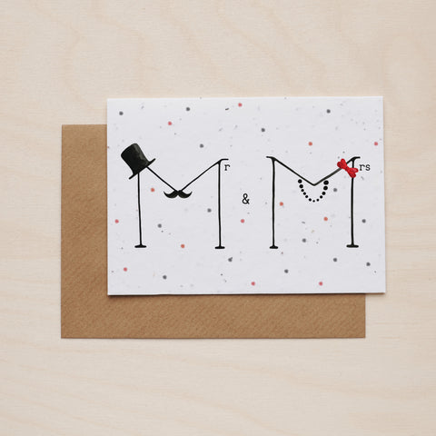 Mr & Mrs - Seeded card