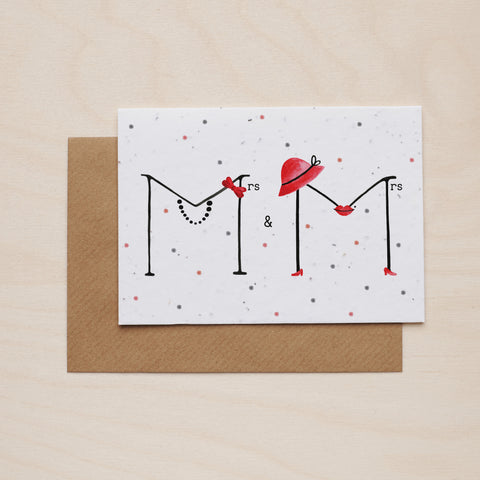 Mrs & Mrs - Seeded card