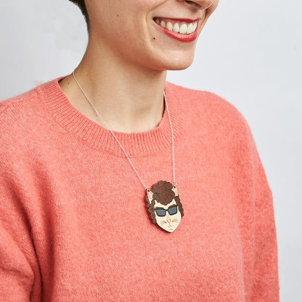 Bob Dylan cat necklace - Oolaladesign