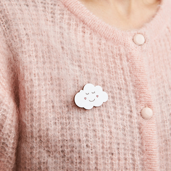 Happy cloud brooch - Oolaladesign