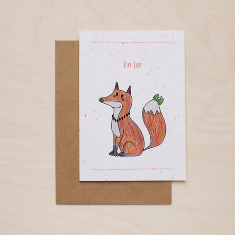 Hey foxy - Seeded card