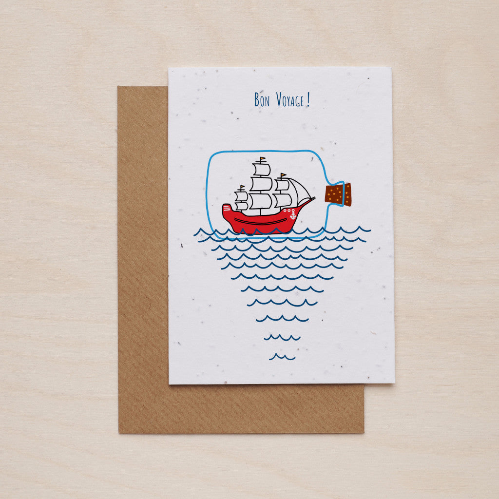 Bon voyage - Seeded card - Oolaladesign