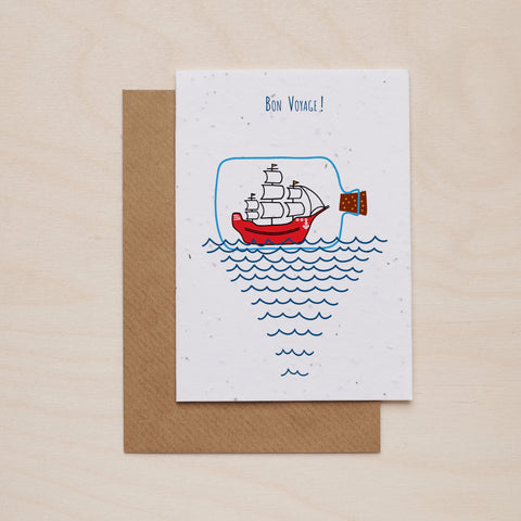 Bon voyage - Seeded card