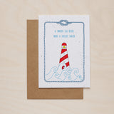 Lighthouse - Seeded card - Oolaladesign