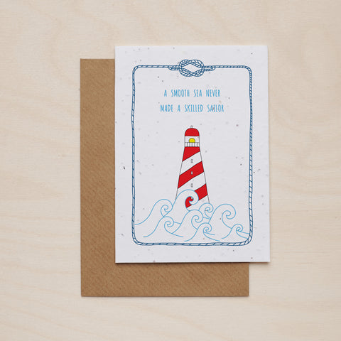 Lighthouse - Seeded card