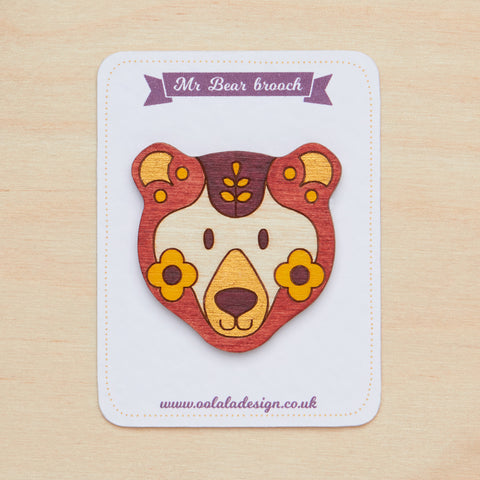 Mr bear brooch