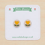 Retro flowers studs - Oolaladesign