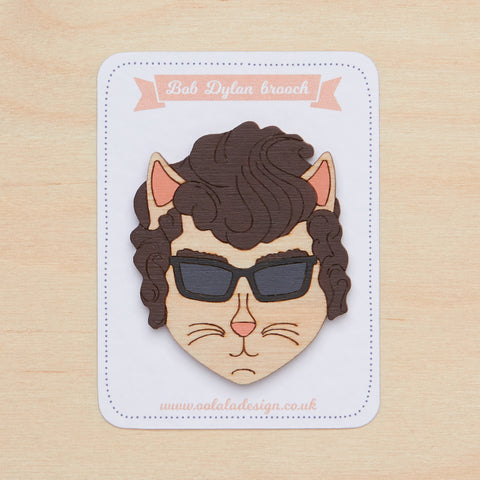 Bob Dylan cat brooch