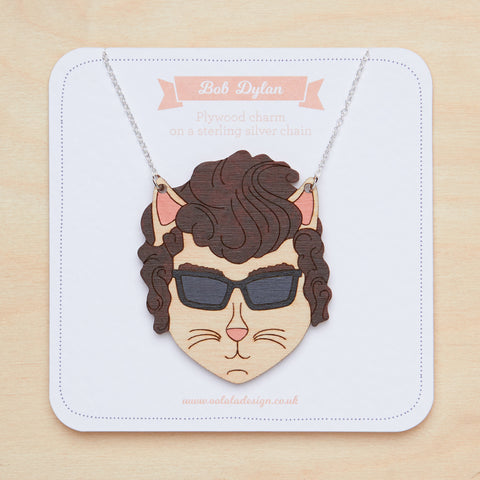 Bob Dylan cat necklace