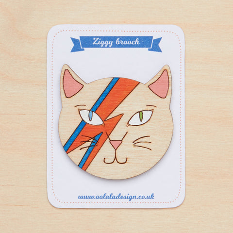 David Bowie cat brooch