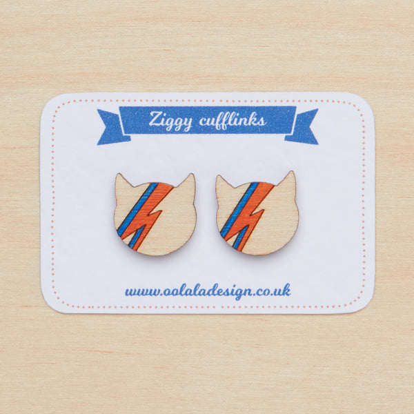 David Bowie cufflinks - Oolaladesign