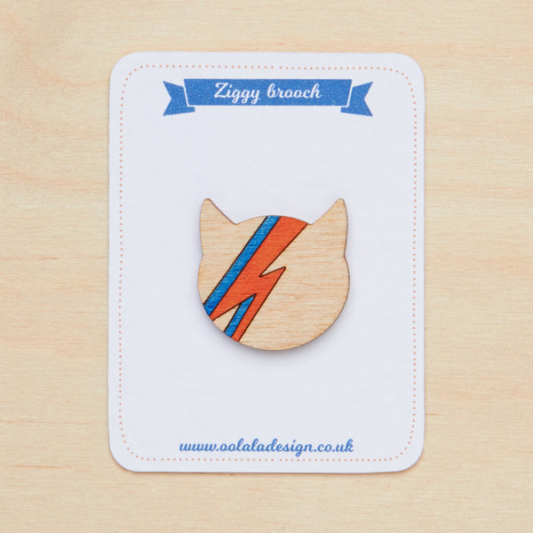 Mini David Bowie brooch - Oolaladesign
