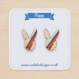David Bowie bunny studs - Oolaladesign