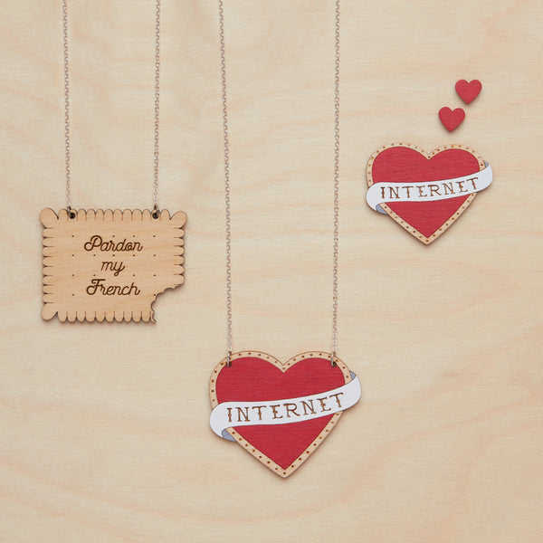 I love internet necklace - Oolaladesign