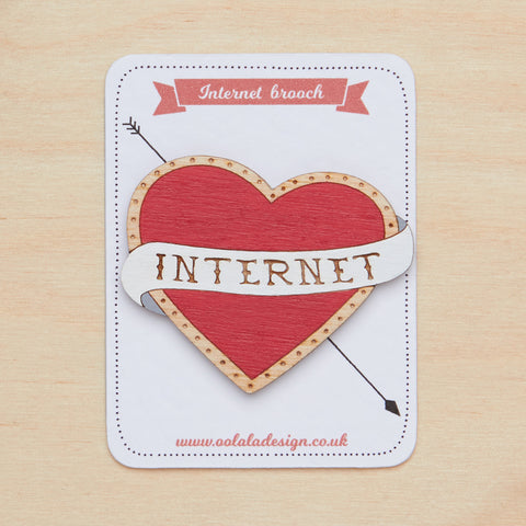 I love internet brooch