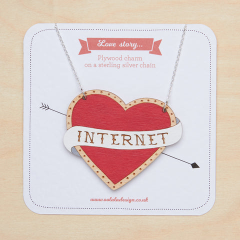 I love internet necklace