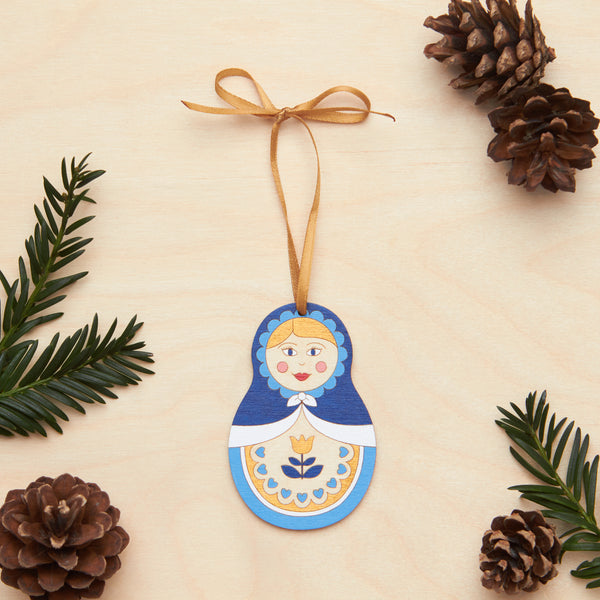 Russian doll Christmas decoration - Oolaladesign
