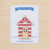 Red beach hut brooch - Oolaladesign
