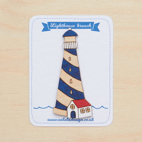 Navy lighthouse brooch