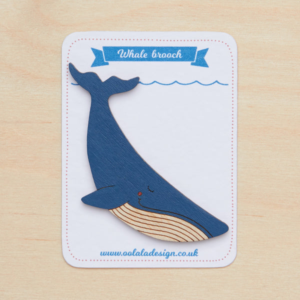 Blue whale brooch - Oolaladesign
