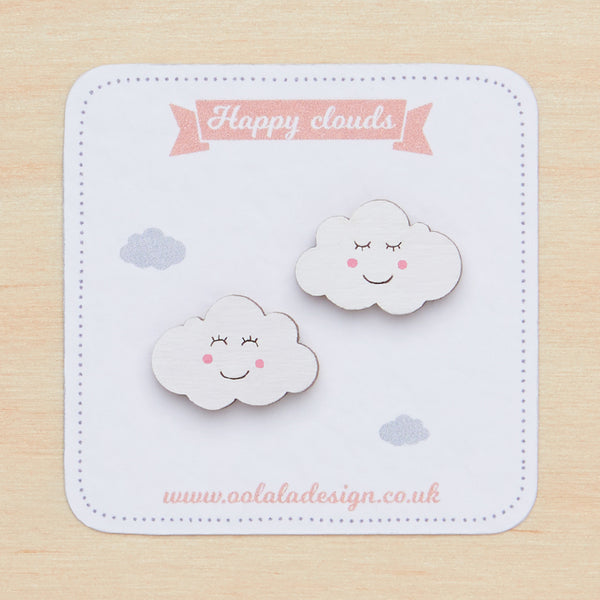Smiley clouds studs - Oolaladesign