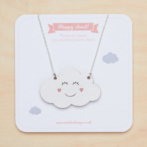 Happy cloud necklace