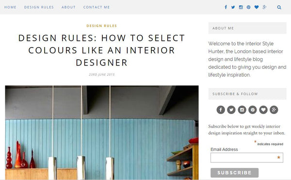 Top 10 UK Interior Blogs By Collectiecouk Style Hunter