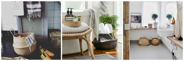 Seagrass belly baskets bathroom storage Collectie