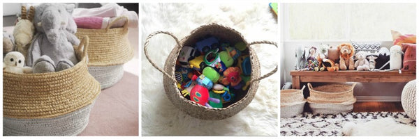 Seagrass belly baskets kids toys Collectie