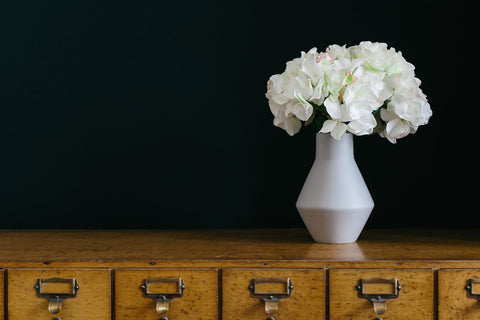 Collectie.co.uk. Bloomingville grey ceramic conical vase (with our hydrangea) £27