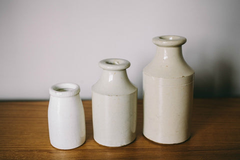 collectie.co.uk Small Antique Ceramic Bottle Vases 3 sizes
