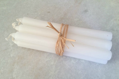 Collectie.co.uk. bundle of six slim small candles in white. £3