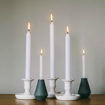 Collectie White Porcelain Candle Holders