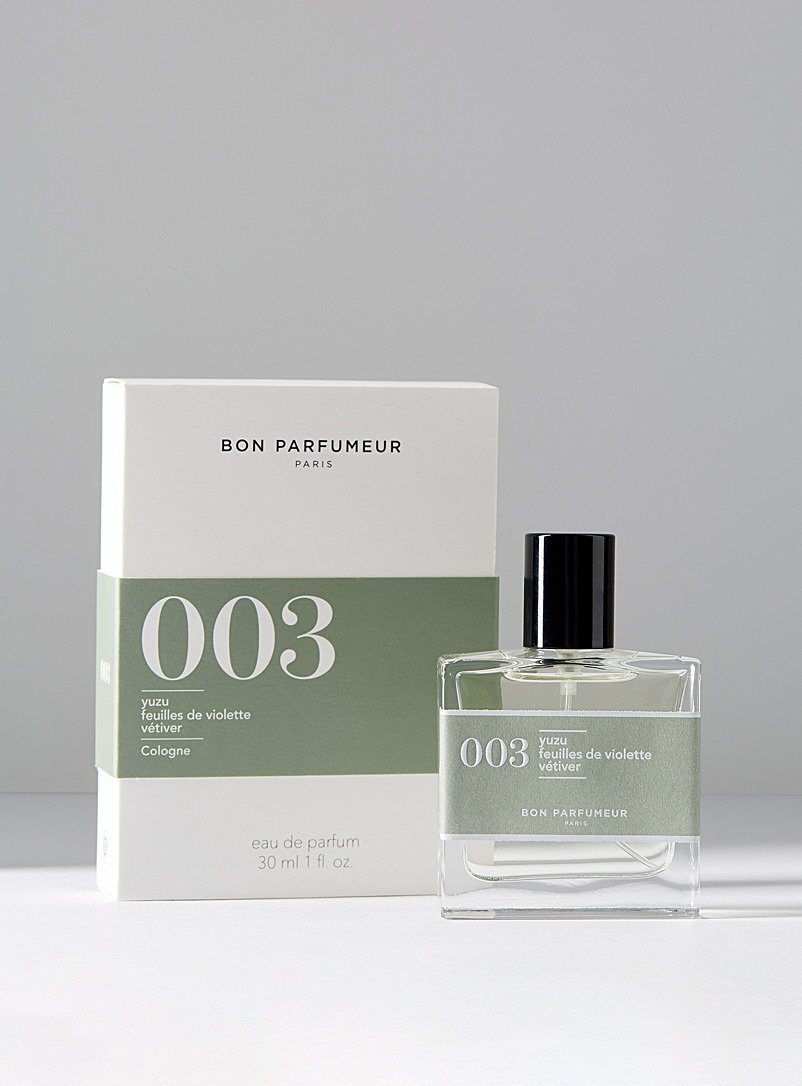 "BON PARFUMEUR ""003"" Yuzu, violet leaves and vetiver 15ml - 30ml"