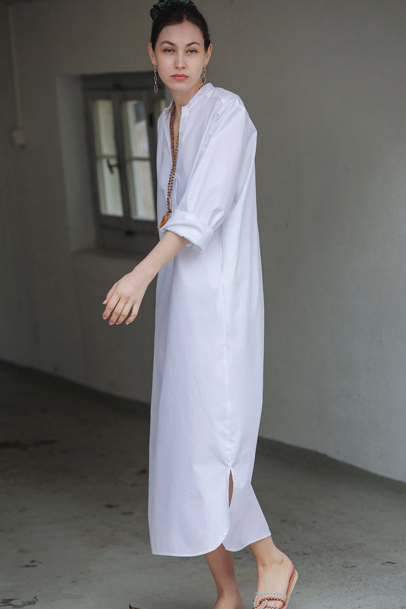 "OWL Marrakech Long Shirtkleid ""Maison"" weiss"