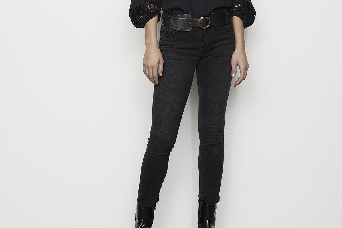 "RABENS SALONER  Jeans ""GABY"" black wasched"