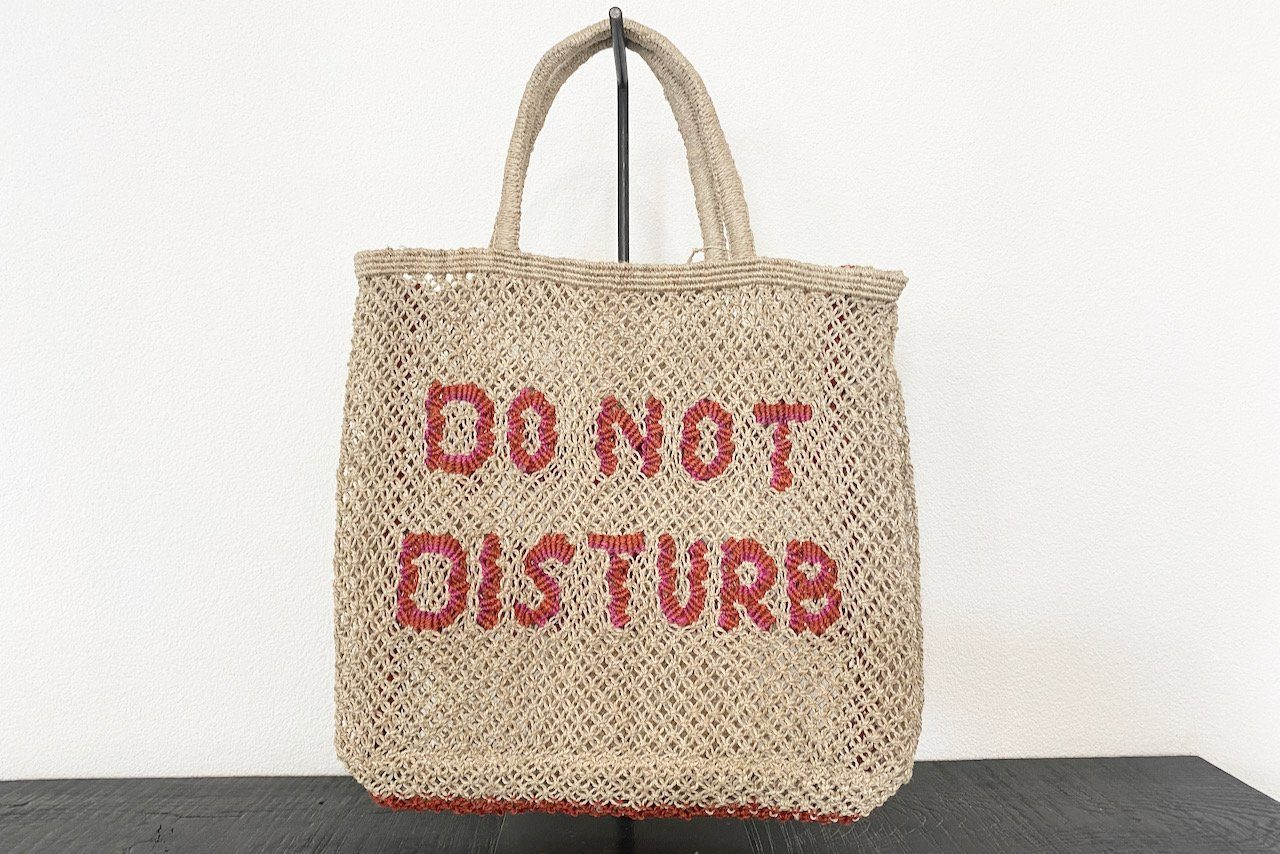 "THE JACKSON ""DO NOT DISTURB"" large red/pink  natural"