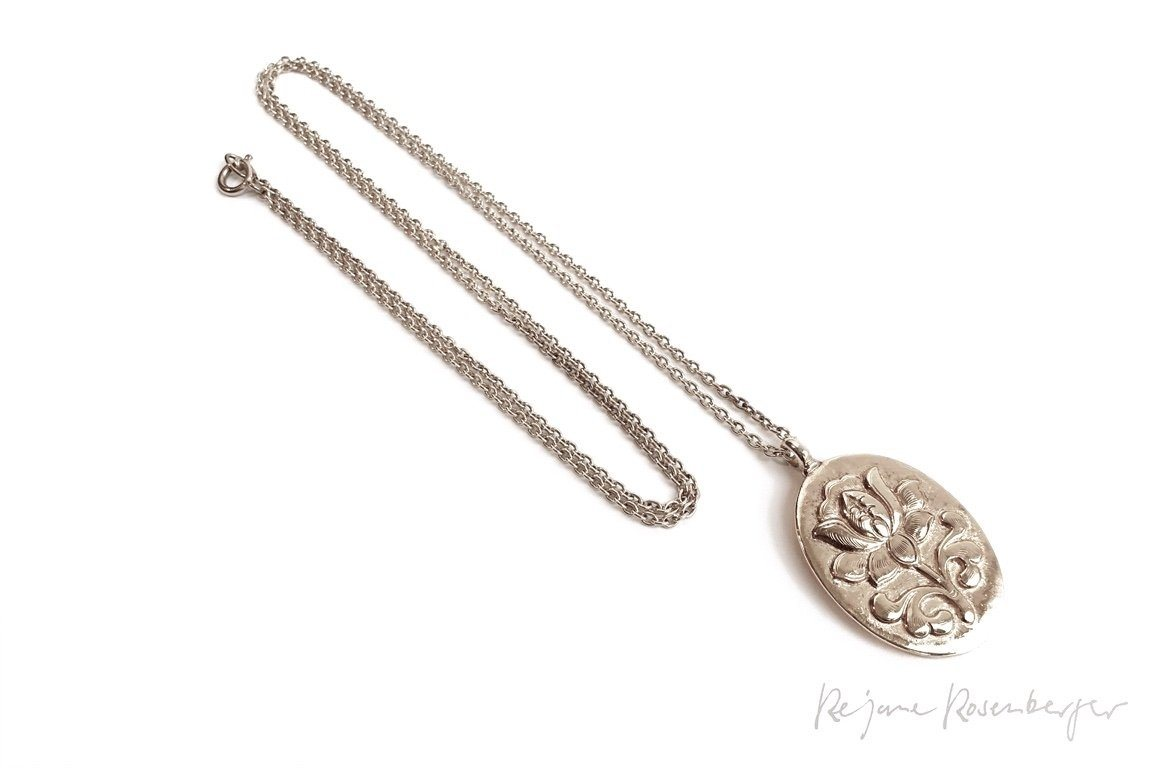 "REJANE ROSENBERGER DESIGN Silberkette ""Lotus"" oval"