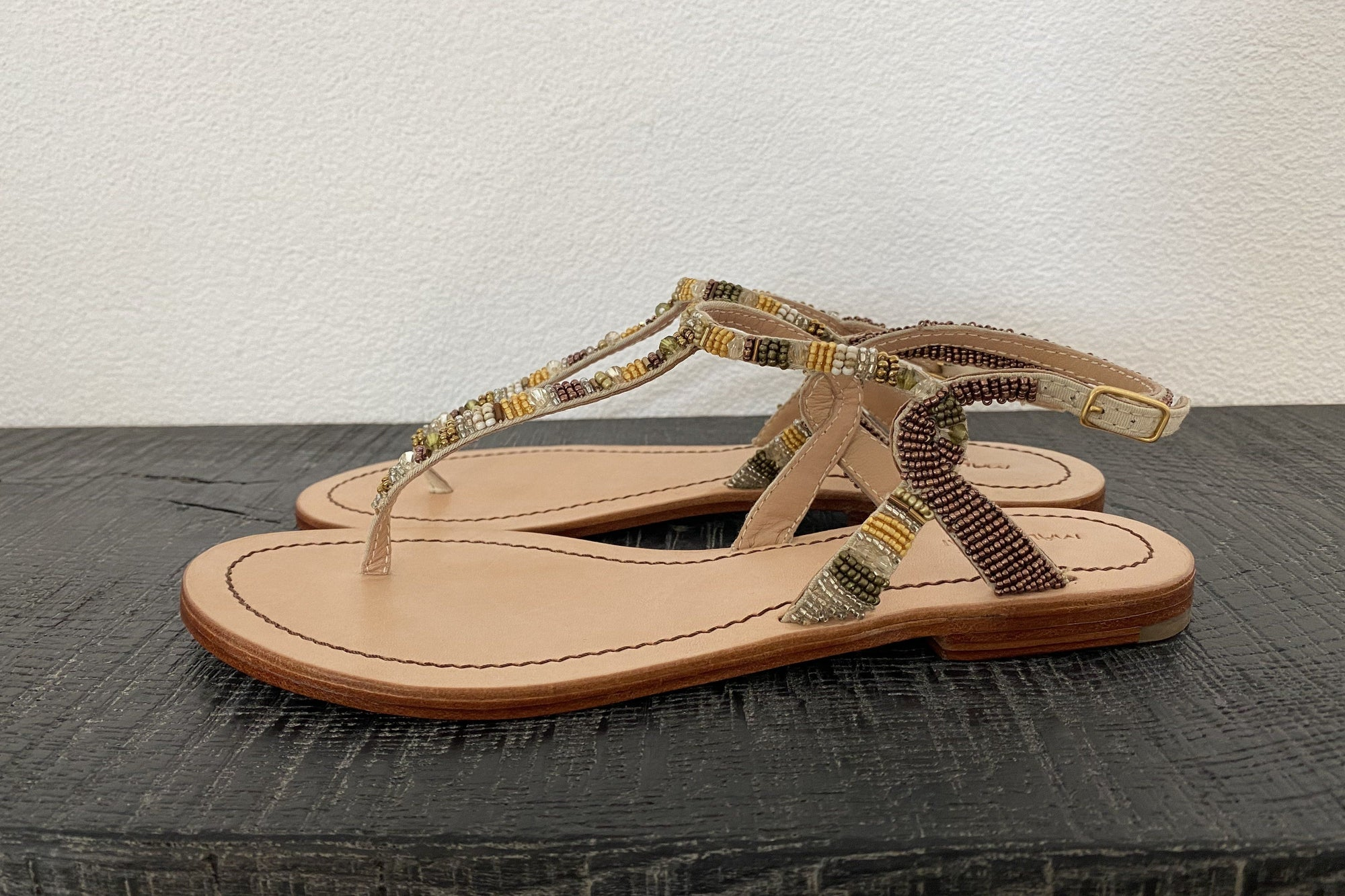 "MALIPARMI ""Sandals"" natural multicolor"