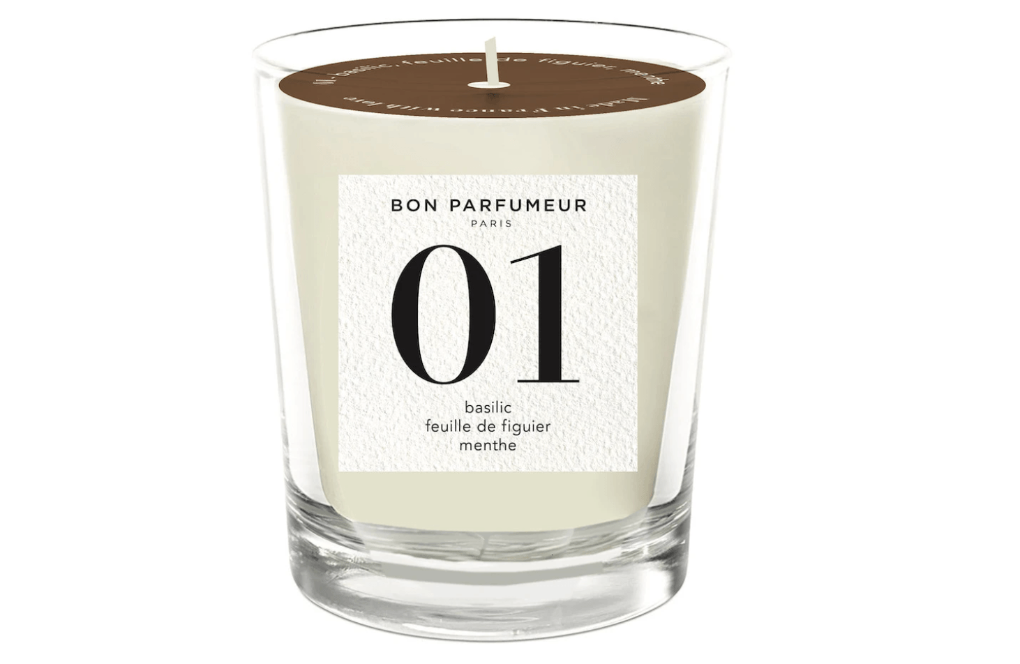 BON PARFUMEUR Candle 01: basil, fig leaves, mint
