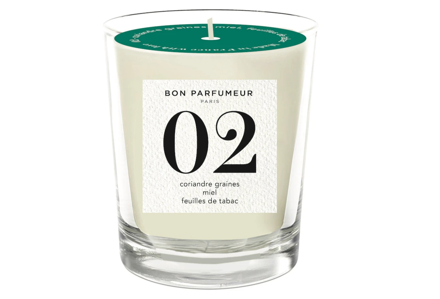 BON PARFUMEUR Candle 02: coriander seed, honey, tobacco leaf