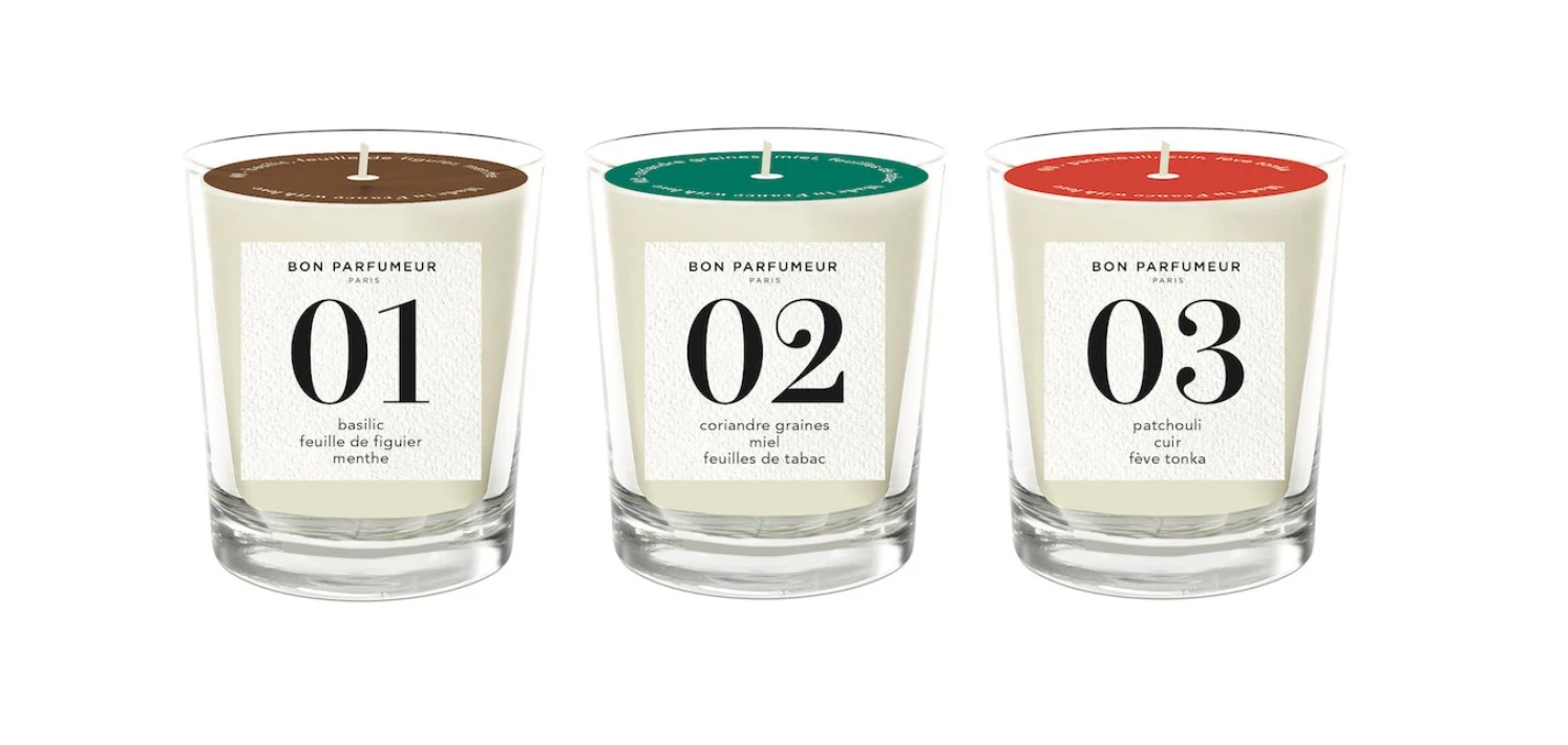 BON PARFUMEUR Mini Candle Set: 01, 02, 03