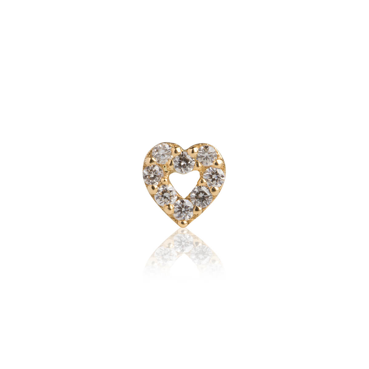 "C'est Moi Jewels - Gelbgold Ohrring ""Open Heart"""